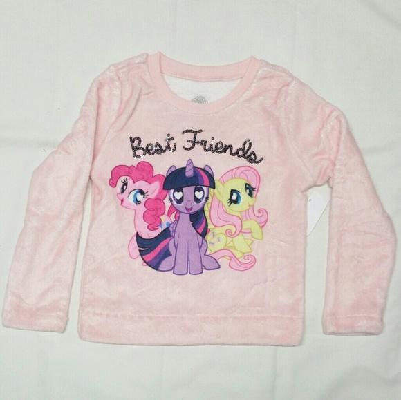 f8aeee302eb8 My Little Pony Shirts & Tops | Pink Best Friends Fleece Sweater ...